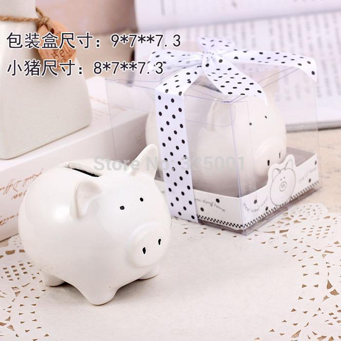 wedding favor gift and baby shower giveaways for guestlovely ceramic white pig bank wedding bridal favor 100pcslot