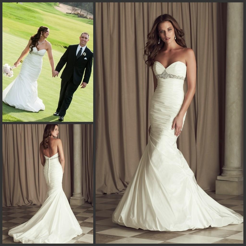 Italian Taffeta Wedding Dresses 2015 Mermaid Paloma Blanca