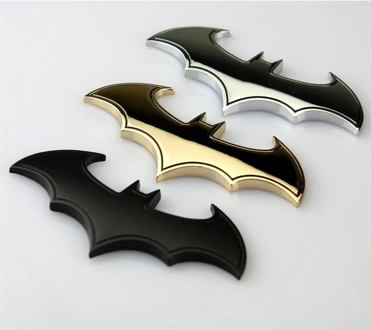Silver Black Gold BATMAN Superhero VS Hulk Goku Badge en métal chromé Emblème Au