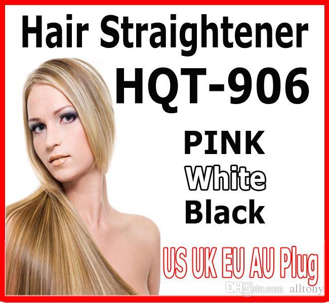 2016 hot HQT-906 Hair Straightener Flat Iron Hair irons fast Straightening Brush Hair Styling comb Beautiful Star pink white US EU UK AU