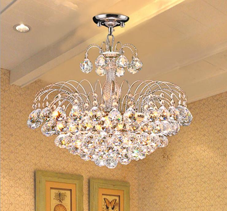 Discount e14 crystal chandelier modern bedroom hotel - Inexpensive chandeliers for bedroom ...
