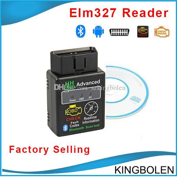 HH OBD Mini ELM327 Bluetooth V2.1 OBD2 Diagnostic Scanner elm 327 Bluetooth OBD II Diagnostic Tool Live Data Scan Tool Device Free Shipping