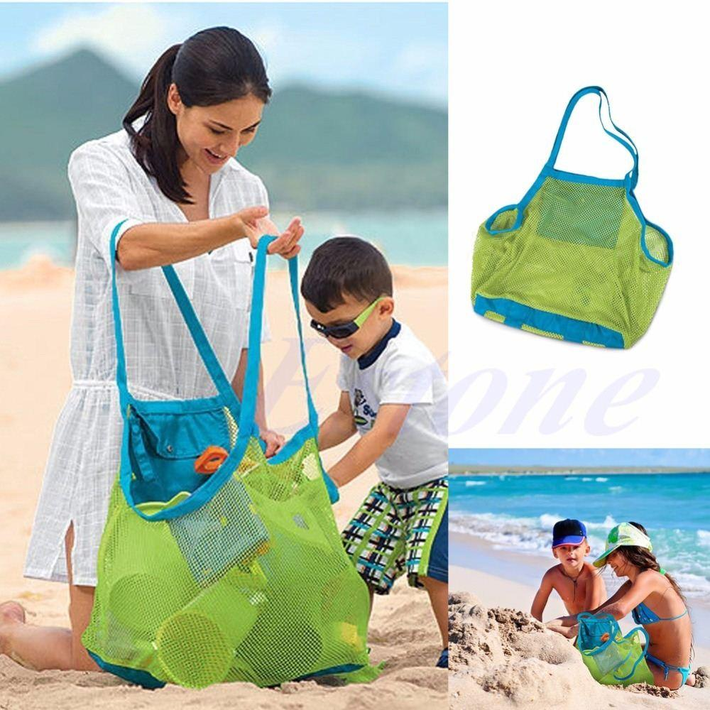 Best Sand Away Mesh Beach Bag Pack Pouch Box Carrying Toys ...