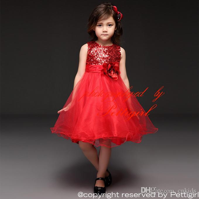 Pettigirl 2015 New Arrival Baby Girls Christmas Dresses Red ...