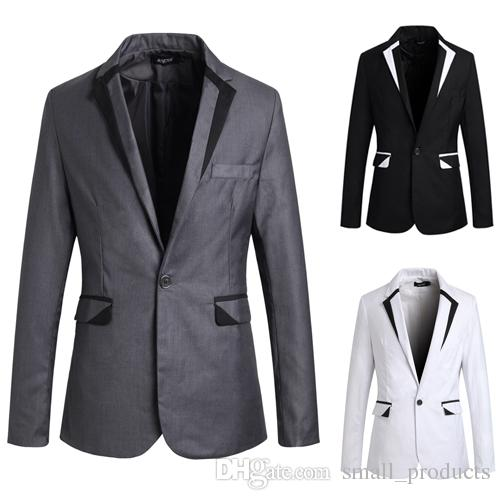 Blazer Men 2015 New Brand Men's Clothing White Blazer Outerwear ...