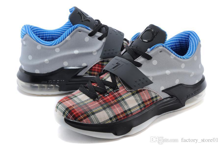 Nike Kevin Durant KD 7 Grey Orange Shoes