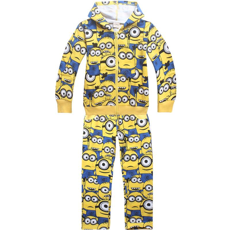 2017 boys warm despicable me 2 minion clothing sets for Minion clothespins