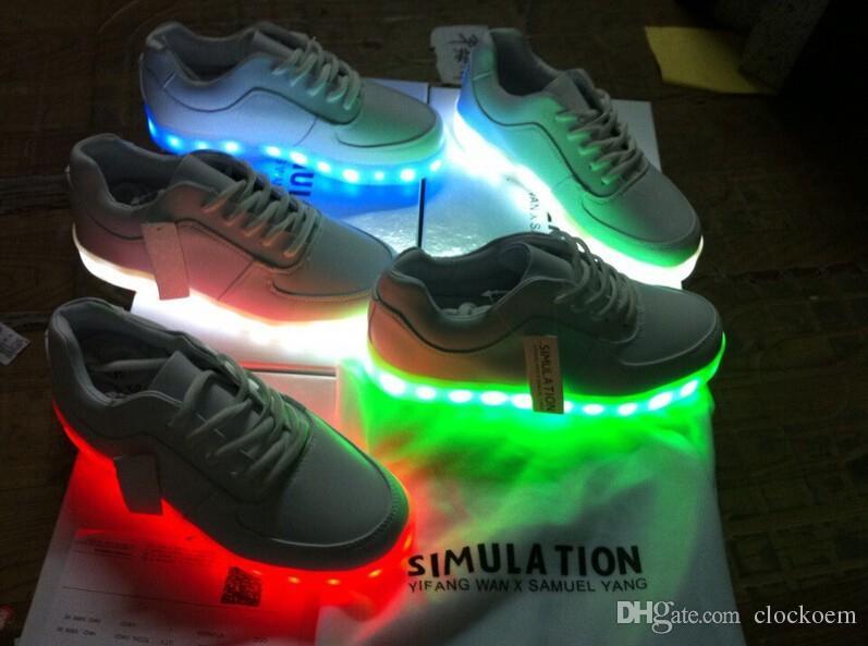 Simulation Led Sneaker Shoes For Men&Women Unisex Hip Hop Dancers ...