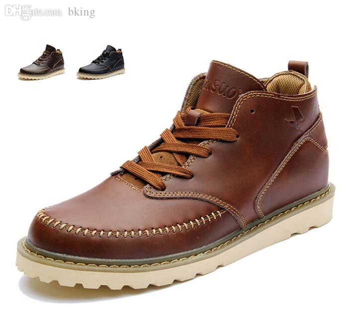 Wholesale-Super Cool Men Leather Boots,High Quality Mens Genuine ...