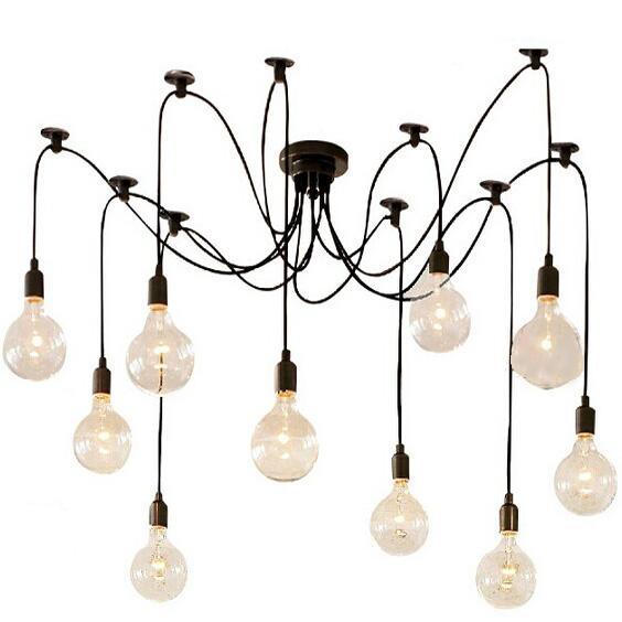 Diy Dining Room Light: Online Cheap E27 Drop Light Vintage Net Spider Dining Room Pendant Lights Creative Bar Pendant