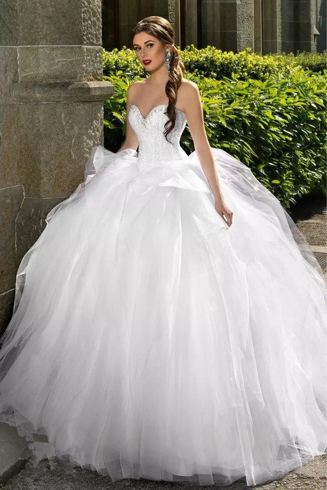 Rhinestone Beading Ball Gown Wedding Dresses Bling Bridal Gowns ...