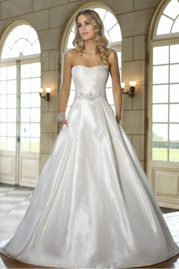 Discount stunning charming wedding dressess taffeta scoop for High end designer wedding dresses