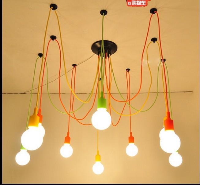 Ediffusing Light Long Spider Chandelier Hanging Line Lamp Living ...
