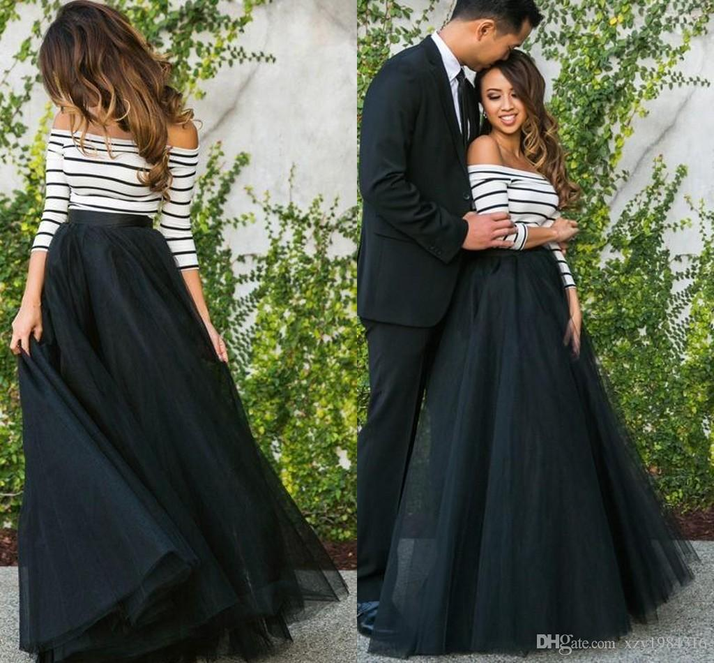 Black Tulle Skirts Cheap Ruched Floor Length Maxi Layers Skirt for ...