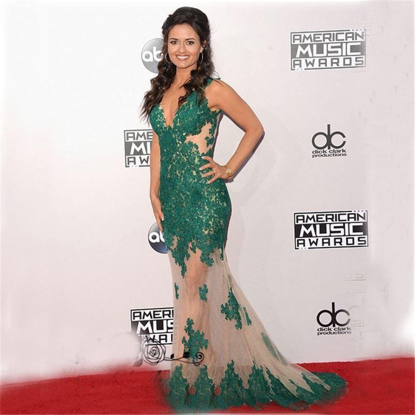 Famous Celebrity Dresses Plus Size Turquoise Mermaid Prom Dresses ...