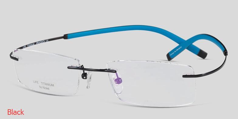 rimless eyeglass frames  New Mens Best Rimless Eyeglass Frames China Optical Frame Men ...