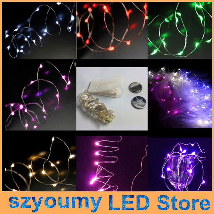 2m 20leds cr2032 battery operated micro mini led string light copper silver wire starry light string for decoration led string lights online with - Battery Operated Mini Christmas Lights