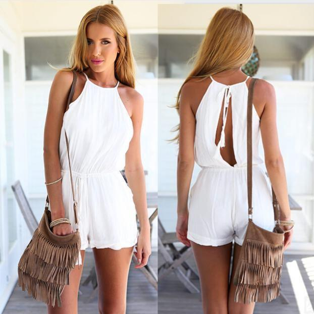 2017 Summer Jumpsuits Shorts Rompers New Fashion 2015 Women Black ...