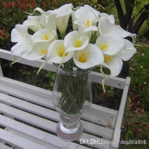 New 35cm pu callas lily elegant egyptian artificial calla for Cheap elegant wedding decorations