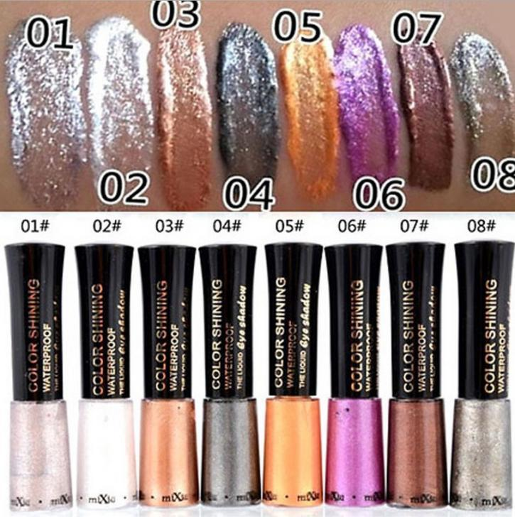 MIXIU Brand Waterproof Glitter Eyeshadow Diamond Pearl Colorful ...