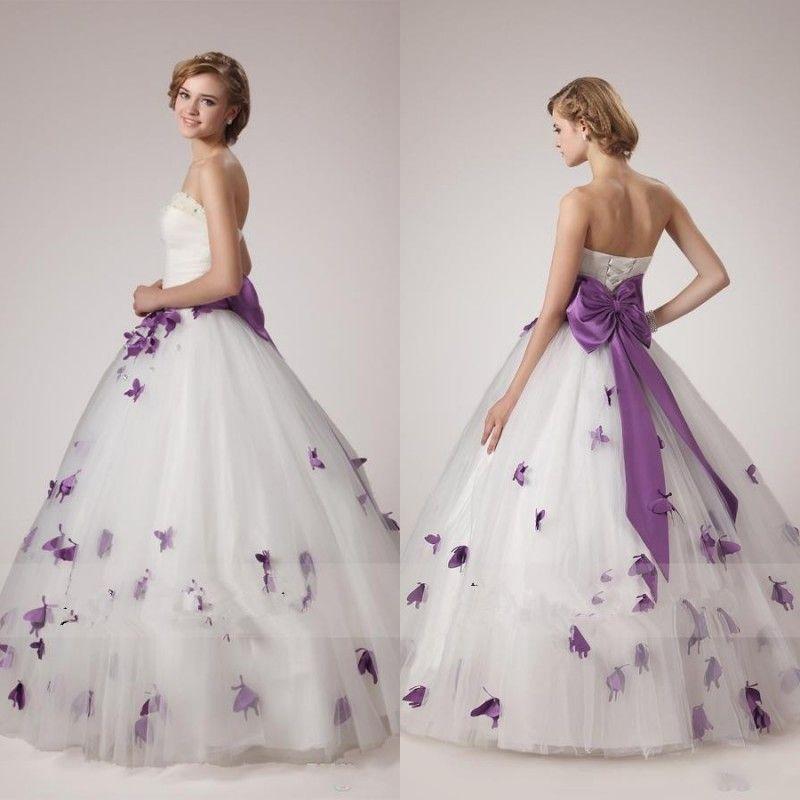purple and white wedding dresses 2016 11