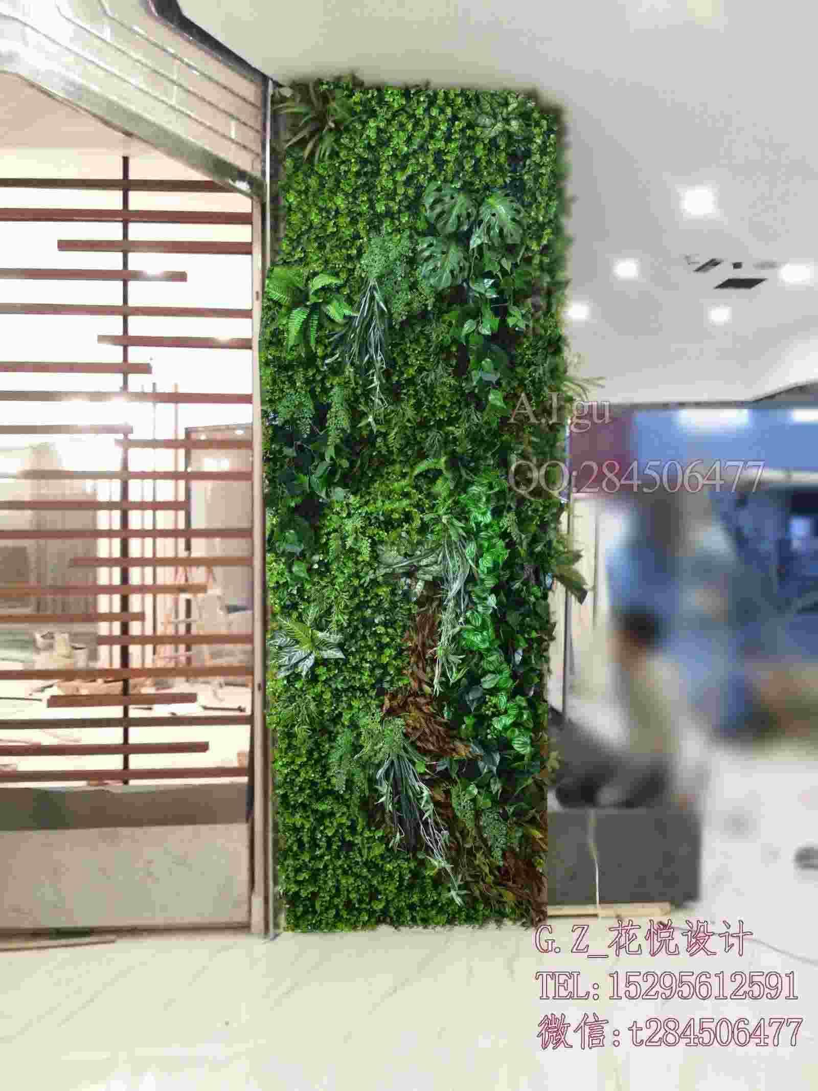Outdoor ornamental plants - Suzhou Plant Simulation Wall Partition Wall Outdoor Ornamental Plants Flower Sales Offices Fake Green Backdrop Miniature