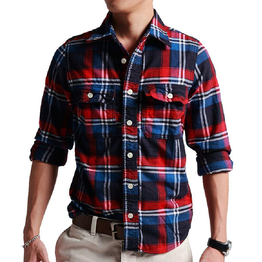 Shirt new design 2015 - 2015 New Men S Plaid Long Sleeve Plannel Shirt Relaxed Fit Men S Casual Shirts Fashion Brushed Shirts