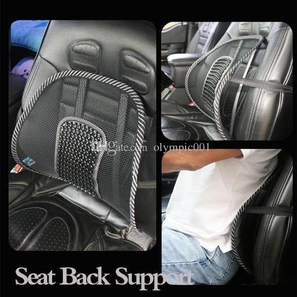 new car seat office chair back cushion back lumbar massage pain relief seat posture corrector black mesh ventilate cushion pad - Office Chair Seat Cushion