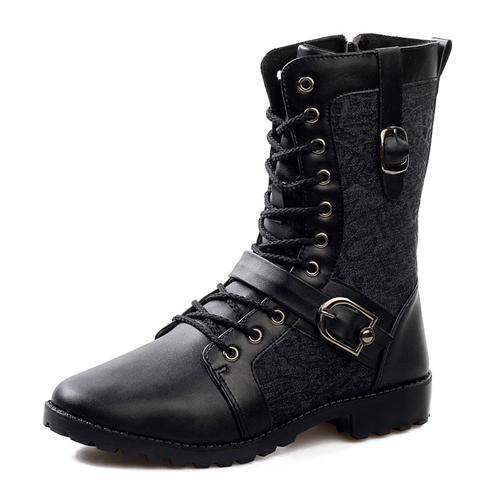 High Quality Genuine Leather Boots For Men Black Color Cool Mens ...