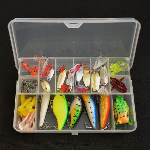 Fishing lure soft baits fishing set silicone bait kit jig for Bass fishing lure kits