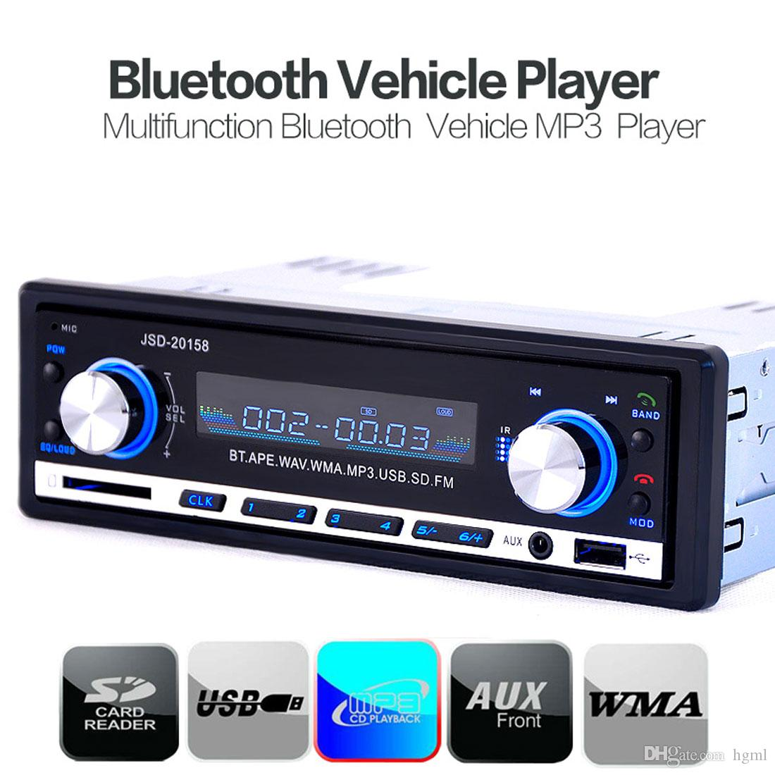 4 pcs / lot Bluetooth Car Stereo Audio Car MP3 Player In-Dash Radio FM Aux Input