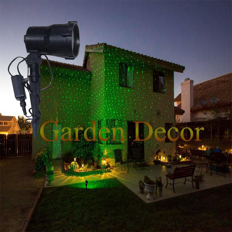 Moving Single Green Moving Garden Laser Light for Christmas Garden