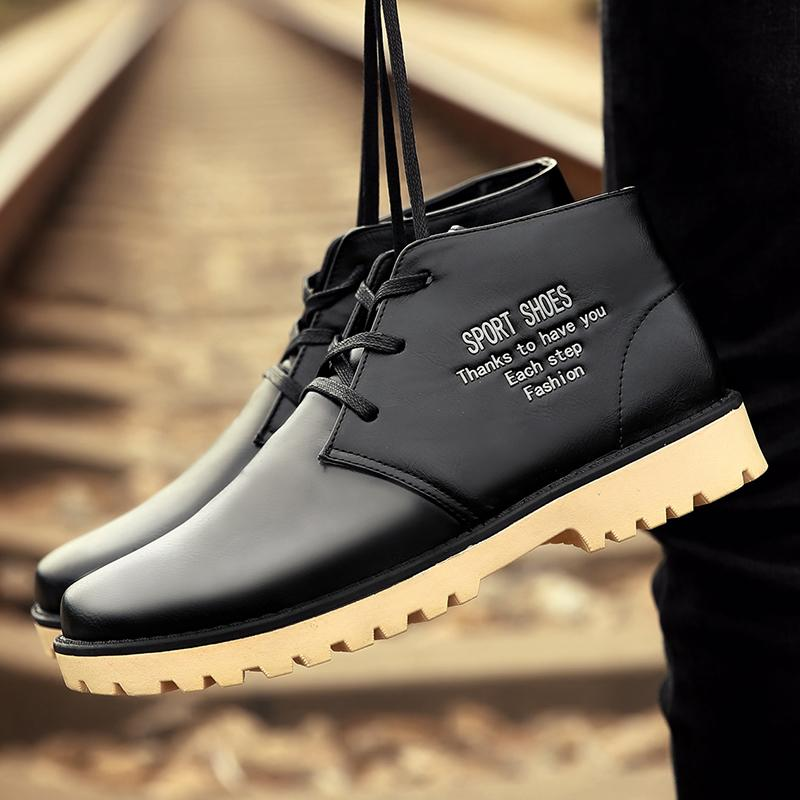 Winter Hot Sale Men Leather Winter Boots Men Ankle Boots Fashion