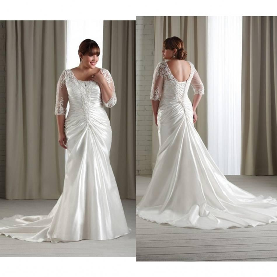 2015 plus size wedding dresses for spring fall big full for Wedding dresses for larger figures