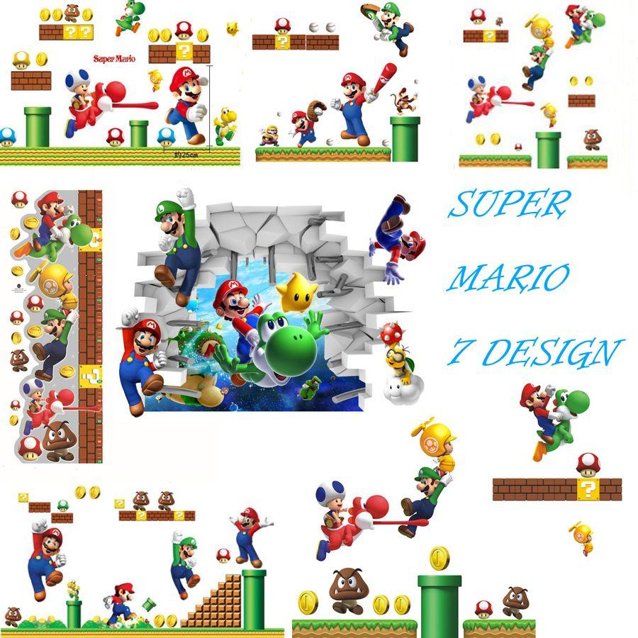 Super Mario Bros Bedroom Decor 7 Design New 2016 New Pvc Super Mario Bros Wall Sticker Home Decor