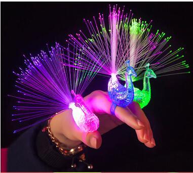LED Flashing Peacock