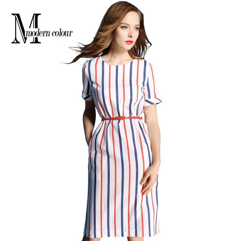 Womens Summer Dresses 2016 Summer Plus Size Casual Women Cotton ...