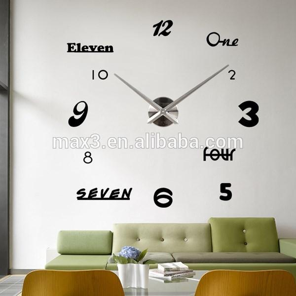 Max3 Decorative Larger Wall Clock Online Shopping Wall Clock Wallpaper Wall  Stickers Wall Mirror Clock Online With $494.8/Piece On Davidhjgu0027s Store ... Part 58