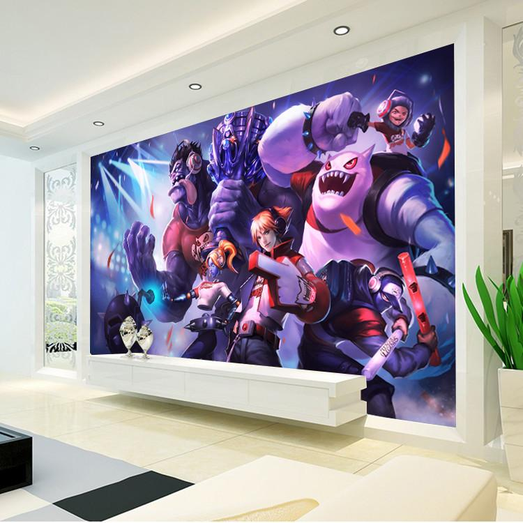 League Of Legends Photo Wallpaper Game Wall Mural Custom Silk Art Decoration Boys Bedroom Children Room Decor Living LOL