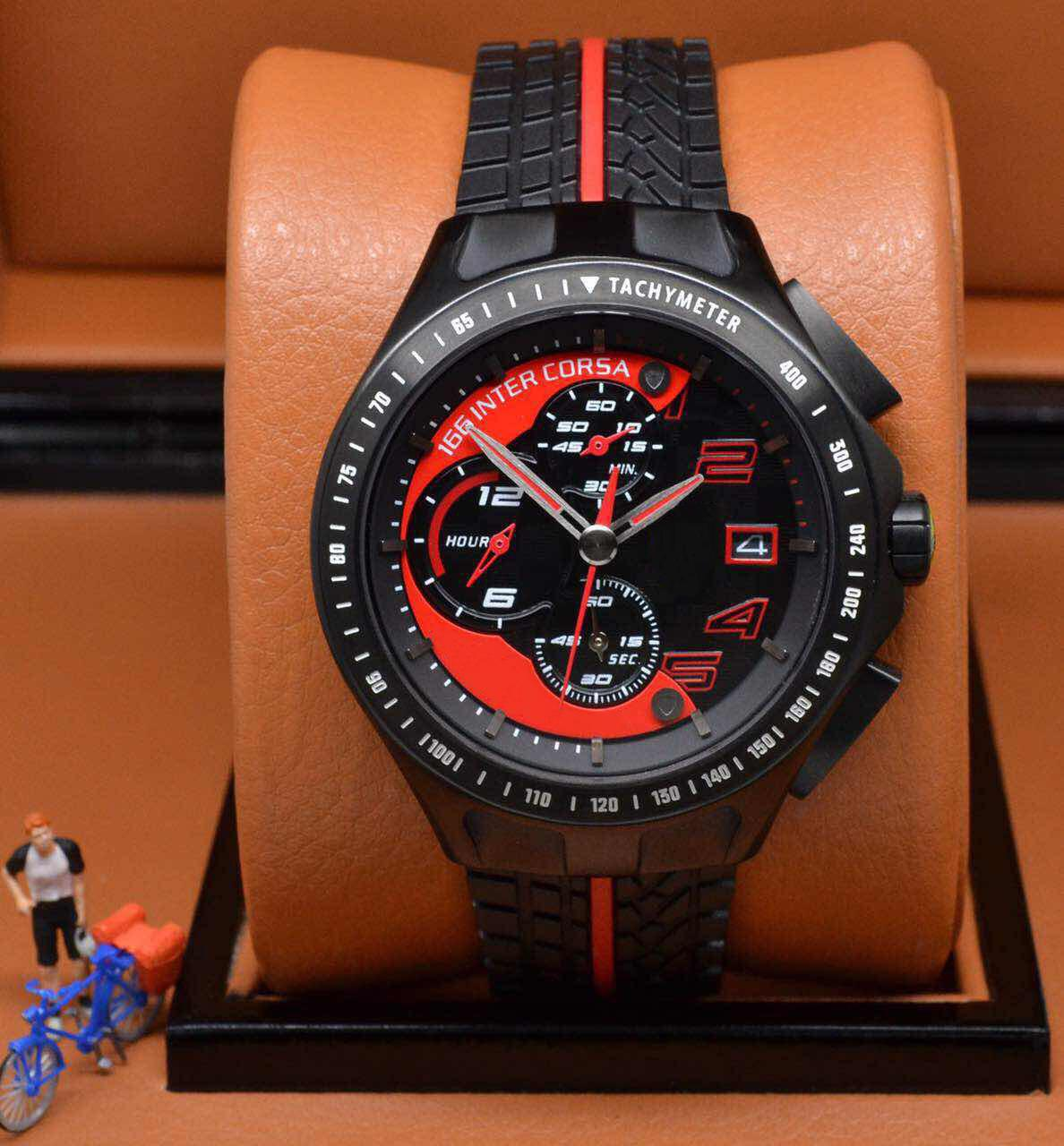 luxury new mens best 166 inter corsa chronograph quartz sports luxury new mens best 166 inter corsa chronograph quartz sports watch black red casual black two