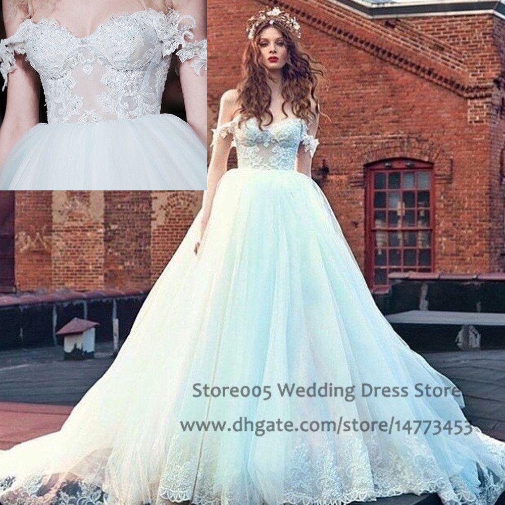 Gowns beaded tulle bridal gown 2016 vestido de casamento w4378 wedding