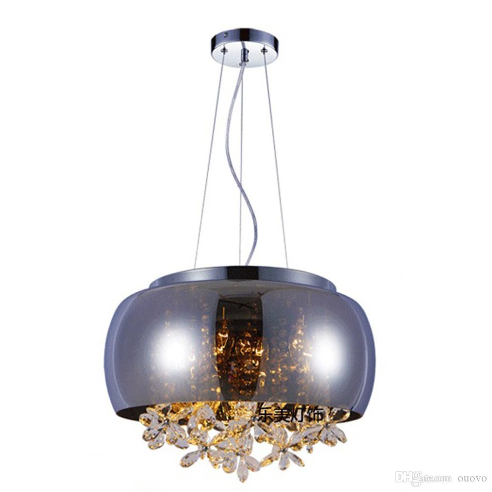 Living Room Pendant Lighting Modern Glass Lampshade Crystal Balls Butterfly Living Room Ceiling