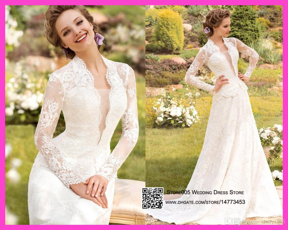 country western wedding dresses modern concept with style lace long sleeves bridal gowns