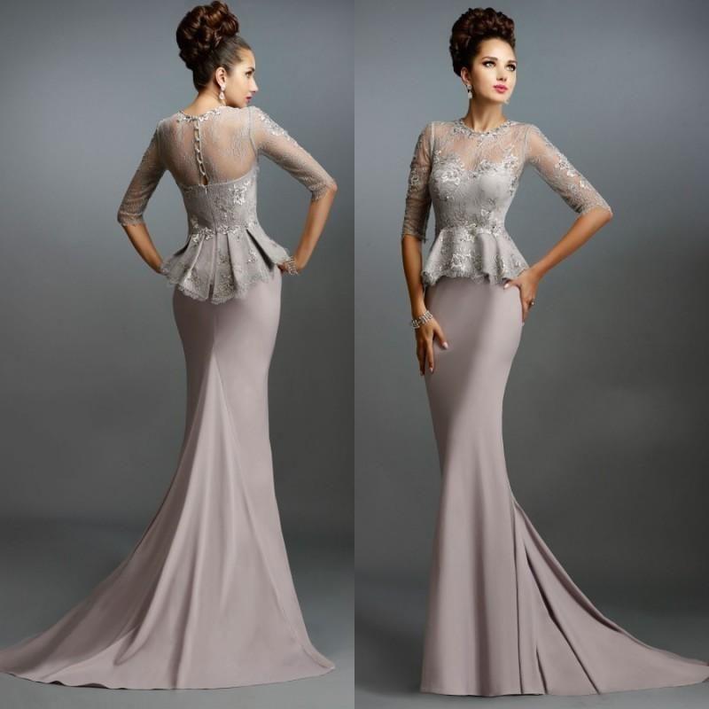 Long Silk Coral Mother Bride Dresses Online  Long Silk Coral ...