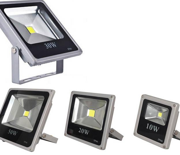 Thin led flood light 10w 20w 30w 50w outdoor garden for Focos led exterior 50w