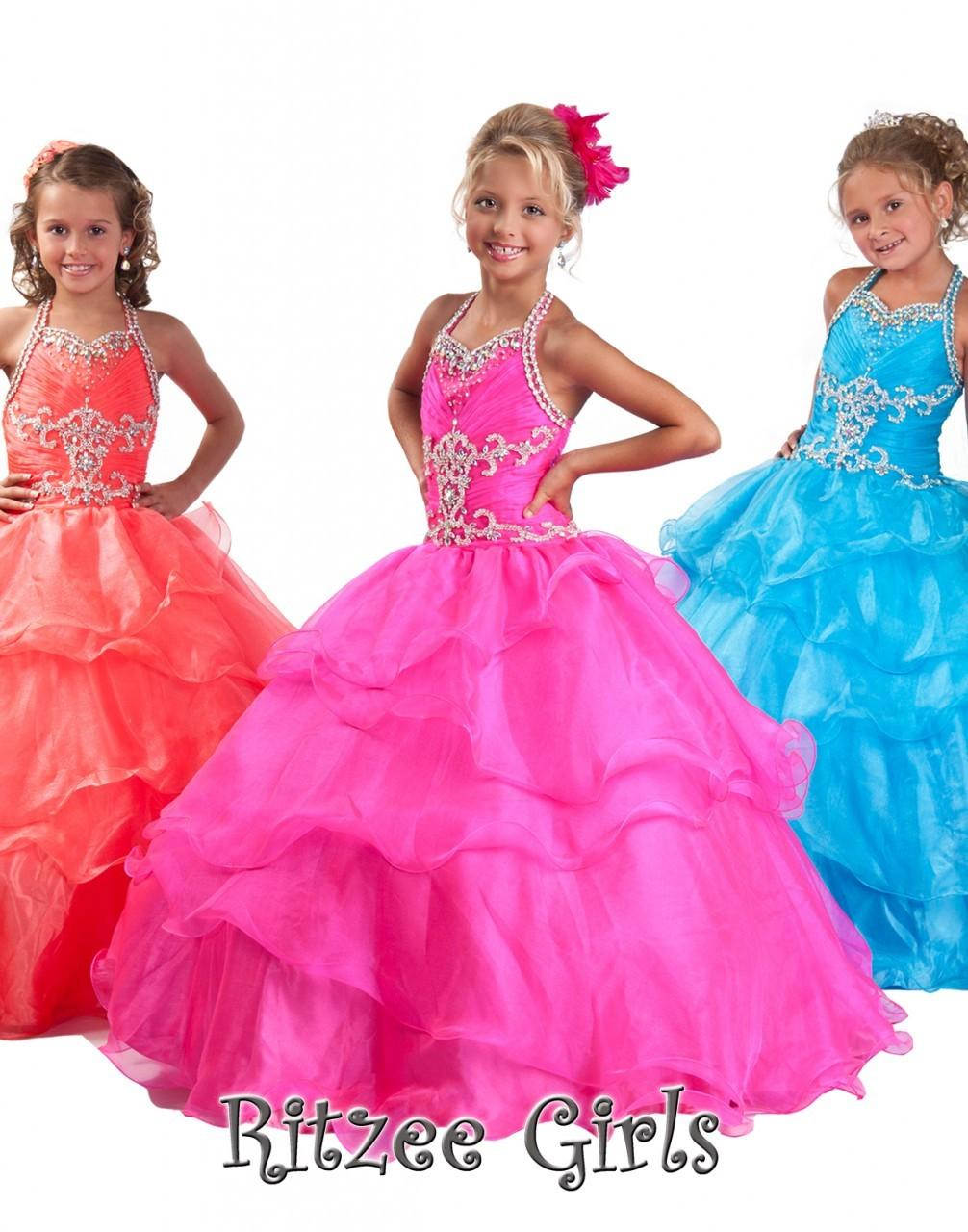 Pink Princess Flower Girl Dresses - LG92J18O
