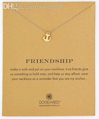 Gros-Dogeared Sparkling Anchor collier pendentif en or 18k Anchor or Statement N