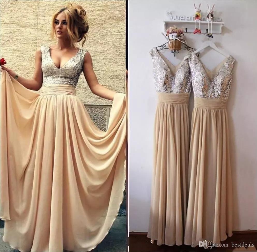 Burgundy black pink champagne sequins bridesmaid dresses long 2017 burgundy black pink champagne sequins bridesmaid dresses long 2017 cheap v neck a line evening gowns 2018 arabic prom dresses under 100 cheap bridesmaid ombrellifo Images