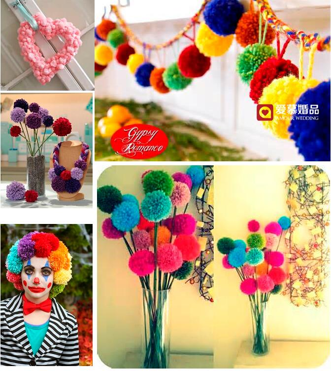 the wedding of wool ball the car decor decorate the wedding party photo props the european wedding decoration small wool ball wedding decorations wool ball