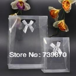 25.5*18.5*8cm Clear Plastic Christmas Packaging Gift Bag with ...